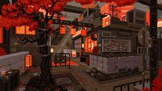 Anime Scenery Wallpaper, Wallpaper Pc, Computer Wallpaper, Cool Pixel Art, Anime Pixel Art, Pixel Art Background, Pix Art, Pixel Animation, Art Manga