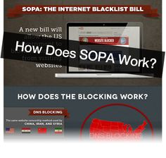 "The U.S. Congress is holding hearings on horrible legislation known as the ""Stop Online Piracy Act"" (SOPA) which would directly attack the technical architecture of the Internet and put every website at risk of being taken offline, even due to a single baseless accusation from a copyright troll. SOPA will hit ""user generated content"" especially hard -- many collections of CC-licensed works will disappear.    This bill can pass and if it does, the INTERNET and FREE SPEECH will never be the sa..."