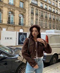 Blackpink Fashion, Korean Fashion, Fashion Outfits, Winter Outfits, Casual Outfits, Cute Outfits, Model Off Duty Style, Black Pink ジス, Looks Chic