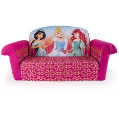 Marshmallow Furniture, Flip Open Sofa, Disney Princess ($83) ❤ Liked On  Polyvore