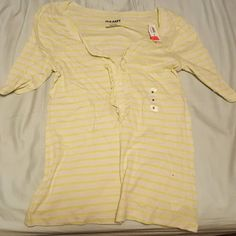 green and white stripe shirt Very cute and comfortable Bought the wrong size NWT Sleeves go maybe halfway between shoulder and elbow Old Navy Tops Blouses