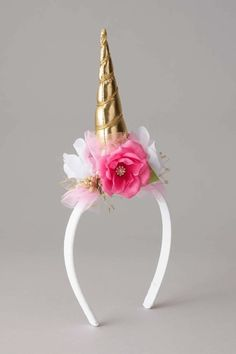 Girls Unicorn Flower Headband: #Chasingfireflies $38.00