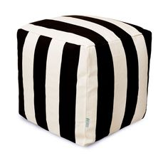 Add stripes to your patio décor with the Ruled Outdoor Cube - Small. These days stripes go with everything, whether you are wearing them or adding them to other patterns in your home décor. Fresh and f...  Find the Ruled Outdoor Cube - Small, as seen in the Poufs Collection at http://dotandbo.com/category/decor-and-pillows/poufs?utm_source=pinterest&utm_medium=organic&db_sku=93661