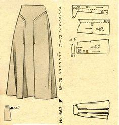 1940s () Skirt Wiener Frauenzeitung Nr 5 No 567