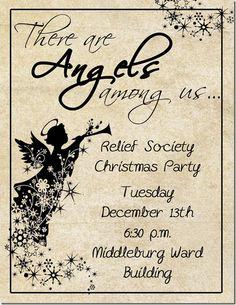 RS Invitation Angels Among Us Christmas