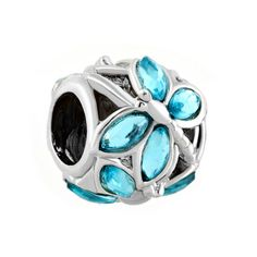Pugster Aquamarine Blue Elements Crystal Wing Dragonfly Bead Fits Pandora Charm Bracelet: Pugster European… #CheapJewelry #DesignerJewelry