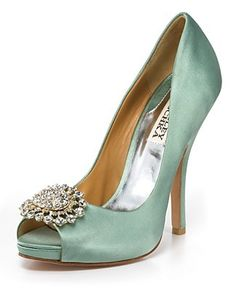 for the bride mint green shoes