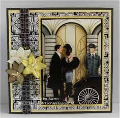 Art Deco Style 3 by karin van eijk - Cards and Paper Crafts at Splitcoaststampers