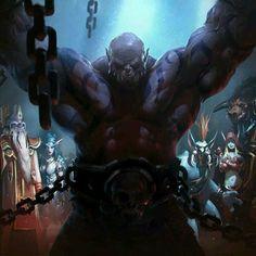 World Of Warcraft Books, Dark Fantasy, Fantasy Art, Garrosh Hellscream, Warcraft Orc, Warlords Of Draenor, Medieval, Sketch Painting, Fantasy Warrior