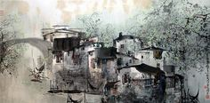 Liu Maochan - a Chinese painter with a touch of French impressionism à la Monmartre. Gorgeous.
