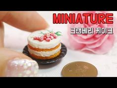 Miniature Cranberry Cake polymer clay tutorial
