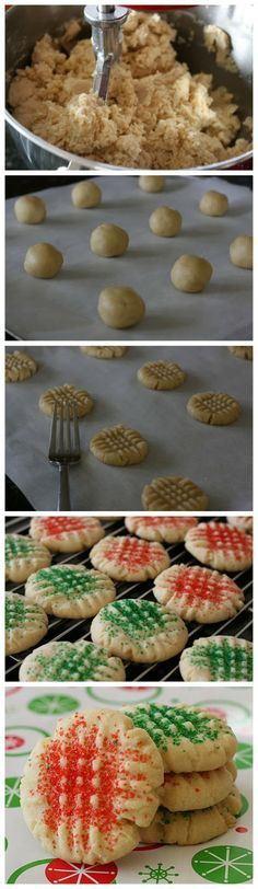My Papa has made this recipe every Christmas for as long as I can remember. Truly the World's Best Sugar Cookies - Recipe Favorite Best Sugar Cookies, Sugar Cookies Recipe, Yummy Cookies, Yummy Treats, Delicious Desserts, Yummy Food, Worlds Best Sugar Cookie Recipe, Baking Recipes, Desert Recipes
