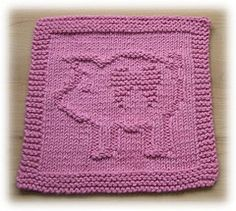 Ravelry: The Tooth Piggy pattern by Susan Mrenna Knitting Squares, Knitting Machine Patterns, Dishcloth Knitting Patterns, Crochet Dishcloths, Knit Or Crochet, Knitting Stitches, Knitting Designs, Knitting Projects, Baby Knitting