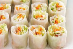Vietnamese chicken rolls « Asian Recipes « All Tasty Recipes Vietnamese Rice Paper Rolls, Vietnamese Food, Chicken Rice Paper Rolls, Rolled Chicken Recipes, Great Recipes, Favorite Recipes, Recipe Ideas, Spring Rolls, Rolls Recipe