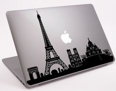 "Paris Skyline pour ordinateur portable Macbook ordinateur portable Macbook Decal 11 ""13"" 15 ""17"" (DM-0135) sur Etsy, $6.76"