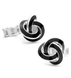 Cufflinks Inc - Ravi Ratan Classics Sterling Black Knot Cufflinks
