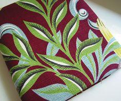 Vintage Barkcloth ~ Leaves and Scrolls
