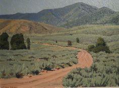 """North Fork-Weber Canyon,"" LeConte Stewart, 12x16, oil (Utah)"