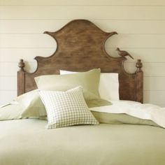 Claudette Headboard | Ballard Designs: Comes in whitewash also.  Different shape (bird is optional!)