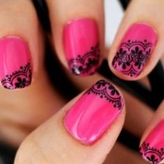A beautiful pink with lovely black design that I could never pull off!