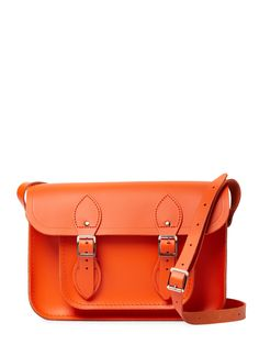 Leather Satchel Bag by The Cambridge Satchel Company at Gilt Satchel Bag, Leather Satchel, Orange Bag, Cambridge Satchel, Shoulder Strap, Shoulder Bags, Autumn Fashion, Product Launch, Louis Vuitton