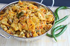 Stir Fried Tortillas and Vegetables (Sri Lankan Kottu Roti Fake out). Traditionally made with shredded Godhamba roti!!