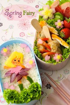 Spring Fairy bento I might've pinned this already but not sure.