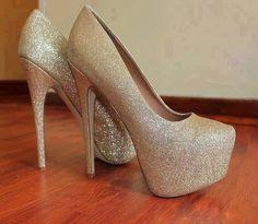 Best Sheepskin Champagne Platform Stiletto Heels Prom/Evening Shoes