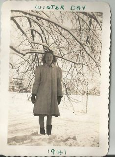 """This is a """"Unknown"""" Photo Taken in 1941. """"Winter Day"""""""