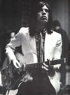 Mick Jagger with long hair 1970's. Rolling Stones