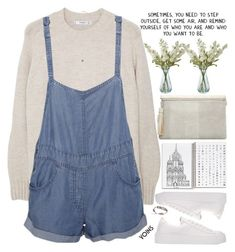 """""""being happy is the goal"""" by alienbabs ❤ liked on Polyvore featuring MANGO, Stussy, Shabby Chic, Pieces, clean, organized and yoins"""