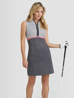 Botanical Bliss (Raindrop Print) Tail Ladies & Plus Size Pixie Golf Dress at #lorisgolfshoppe