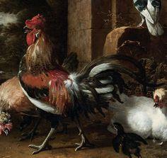 Melchior d'Hondecoeter, Cour de ferme  http://casaprints.com/fr/189-melchior-d-hondecoeter