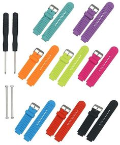 Replacement Silicone Watch Band Strap For Garmin Forerunner 220 230 235 620 630
