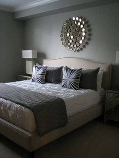 Home Decor | Interior Design. Love the colors, very soothing. Love this room it's cozy yet simple