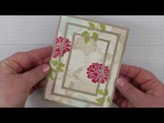 How to create a Triple Time Stamping Technique Card with the Fabulous Florets Stamp set shared by Canadian Stampin Up Demonstrator Sandi MacIver, there is al. Hand Made Greeting Cards, Making Greeting Cards, Greeting Cards Handmade, Card Making Tutorials, Card Making Techniques, Making Ideas, Paper Cards, Folded Cards, Cards For Friends