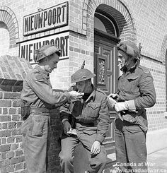 Infantrymen of the South Saskatchewan Regiment. September 9, 1944, Nieuport, Belgium.