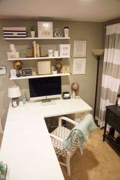 My new Ikea Desk! - Office Ikea - Home Office Home Office Space, Home Office Desks, Office Furniture, Office Table, Office Workspace, Pipe Furniture, Furniture Vintage, Office Spaces, Desk Space