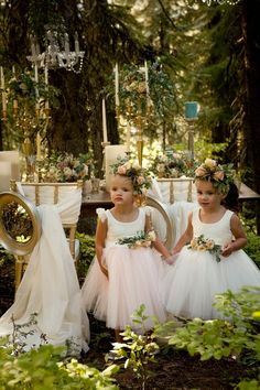 Enchanted Woodland Wedding •Flower Girls • I 'Do
