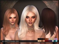 The Sims Resource: Nightcrawler`s Kylie hairstyle • Sims 4 Downloads