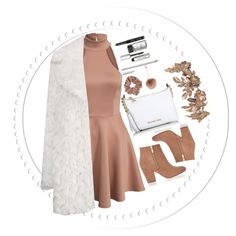"""little brown"" by jfgs ❤ liked on Polyvore featuring Topshop, River Island, Michael Kors, Accessorize, Bobbi Brown Cosmetics, women's clothing, women, female, woman and misses"