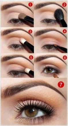Дневной макияж для карих глаз в персиковой или розовой гамме — Модно / Nemodno