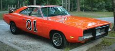Couldn't very well have a wall of sexy cars without this 1969 Dodge Charger, Dukes of Hazzard style. Us Cars, Sport Cars, Classic Hot Rod, Classic Cars, General Lee Car, Dodge Cummins Diesel, Delorean Time Machine, Dukes Of Hazard, 1969 Dodge Charger