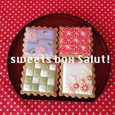 和柄アイシングクッキー   sweets box Salut!