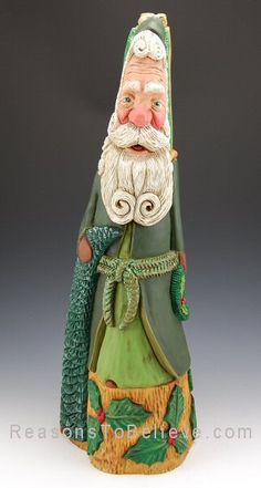 Cypress Knee Santa   Santa Claus Figurines and Hand Carved Wooden Santas