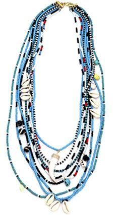 Sara Designs NYC Maasai Beaded Necklace
