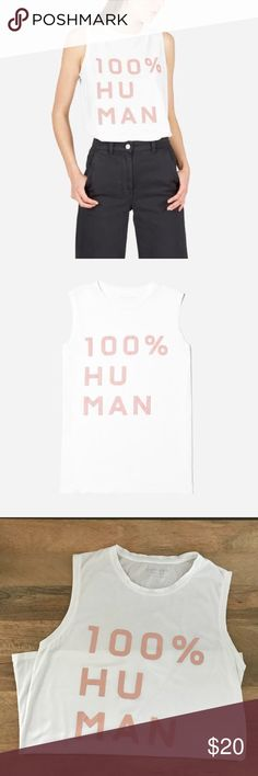 Everlane 100% human muscle tank Worn a few times but in great condition. Everlane Tops Tank Tops