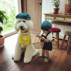 Cuteness Overload One Year Old Girl and Her Giant Poodle BFF Will Melt Your Heart #Poodle