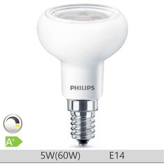 Bec LED Philips 5W E14 forma reflector R50, lumina calda http://www.etbm.ro/tag/149/becuri-led-e14