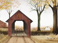 I love Billy Jacobs!! Bucks County Bridge Ex-Large by Billy Jacobs 22x28""